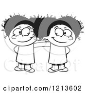 cartoon clipart together standing boy happy twin cute royalty clip match toonaday vector yelling having illustration rf illustrations