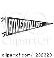 Clipart of a Sketched Blank Homecoming Dance Banner with