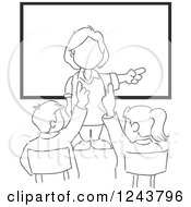 Clipart Of A Professor Teaching In A College Classroom