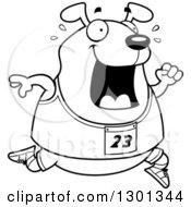 Royalty-Free (RF) Running Dog Clipart, Illustrations