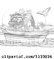 Childs Sketch Of Noah's Ark Posters, Art Prints by