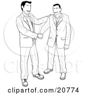 Royalty-Free (RF) Clipart of Shaking Hands, Illustrations