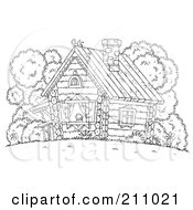 COLORING BOOKS LOG CABINS « Free Coloring Pages