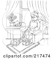 Royalty-Free (RF) Clipart of Families, Illustrations