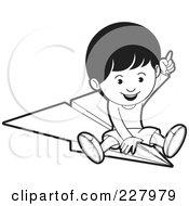 Royalty-Free (RF) Clipart Illustration of a Happy Boy