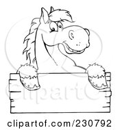 Royalty-Free (RF) Clipart of Horse Signs, Illustrations