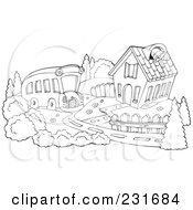 Royalty-Free (RF) Schoolhouse Clipart, Illustrations