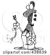 Royalty-Free (RF) Clipart Illustration of a Cartoon