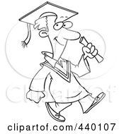 Royalty-Free (RF) Clip Art Illustration of a Cartoon Proud