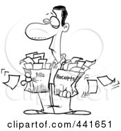 Royalty-Free (RF) Clipart of Receipts, Illustrations
