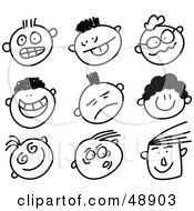 Royalty-Free (RF) Clipart of Facial Expressions