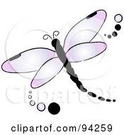 royalty-free rf purple dragonfly
