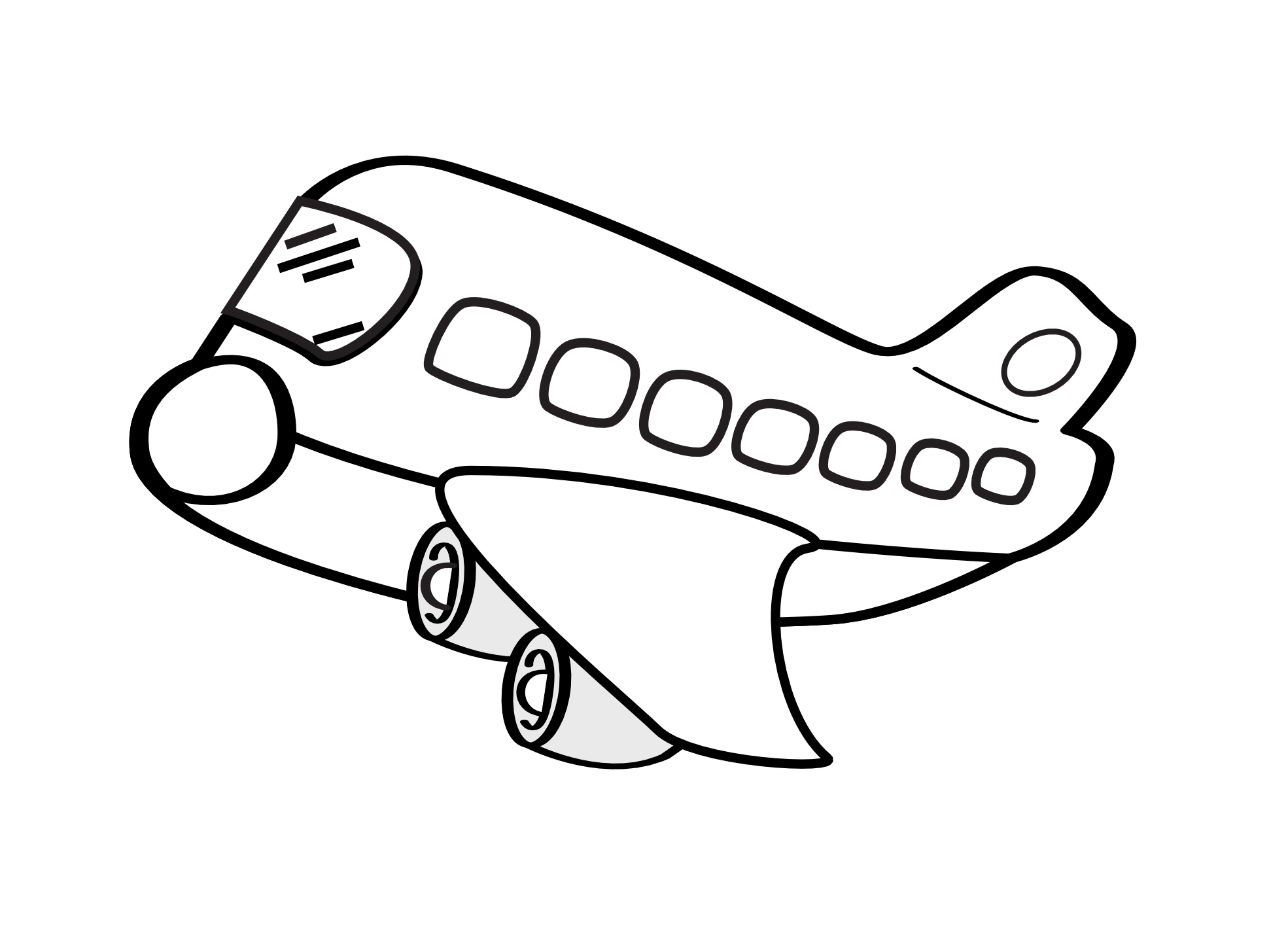 Black Paper Airplane Clipart Clipart Panda