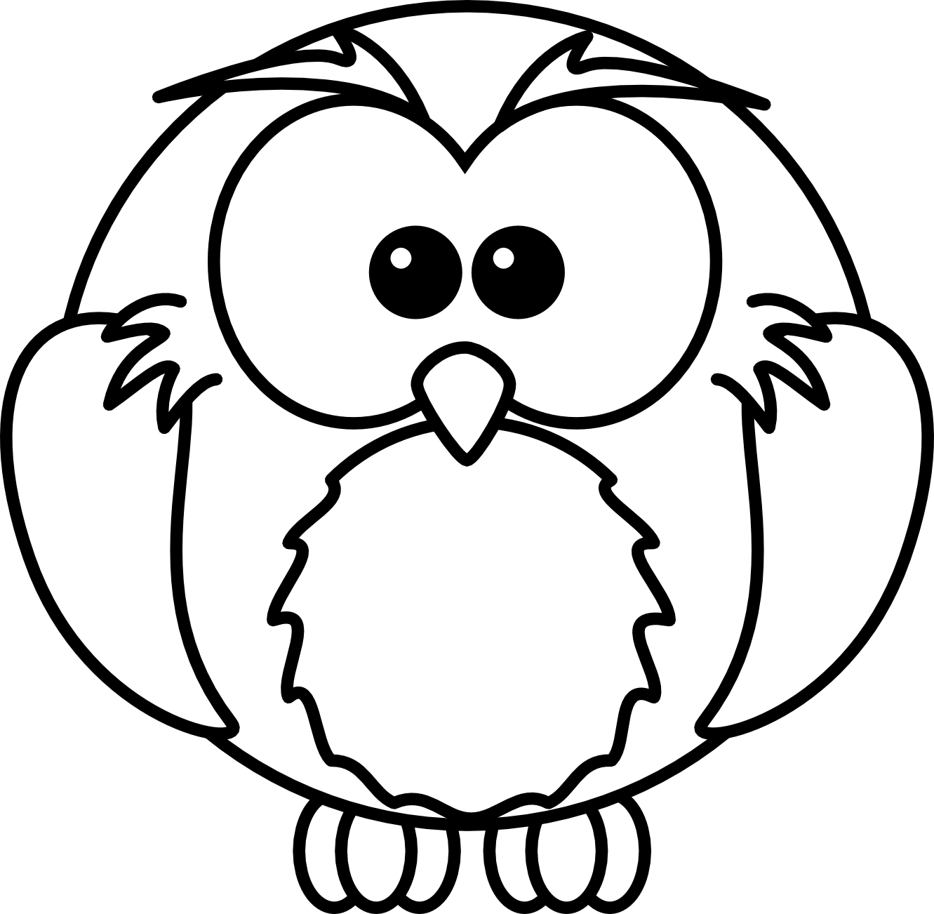 Baby Owl Clipart Black And White Clipart Panda