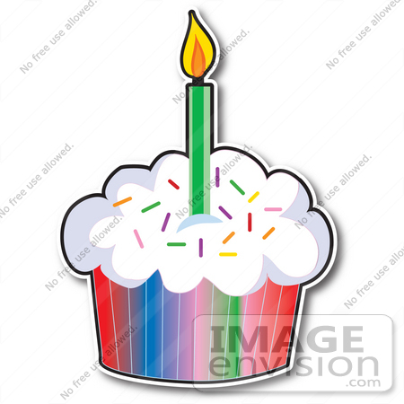 Birthday Cupcakes With Candle Clipart Panda Free Clipart Images