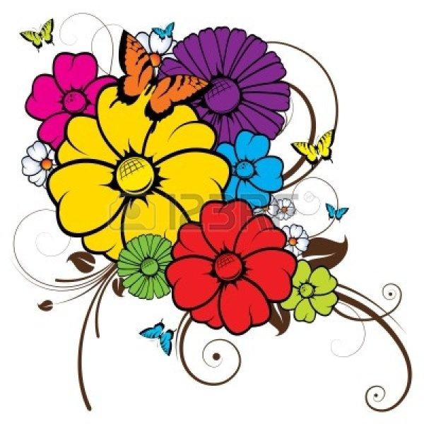 abstract flower clip art clipart