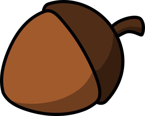 acorn clipart black and white