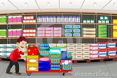 clipart grocery aisle aisles shopping clip vector clipartpanda illustration terms clipground