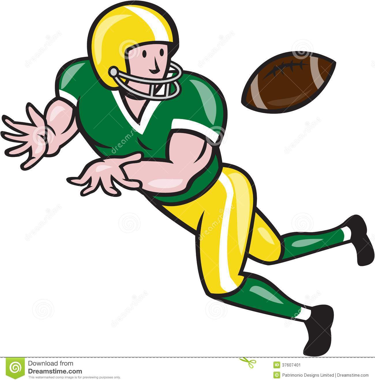 hight resolution of american football player clipart