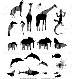 animal clip art clipart clip art of animal silhouettes [ 1024 x 1044 Pixel ]