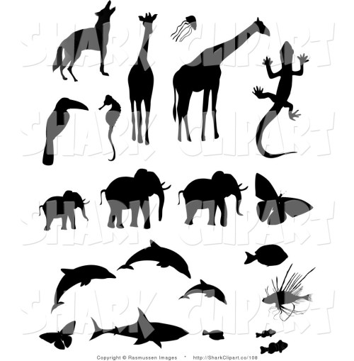 small resolution of animal clip art clipart clip art of animal silhouettes