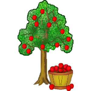 20 Red And Green Apple Trees Clip Art Ideas And Designs