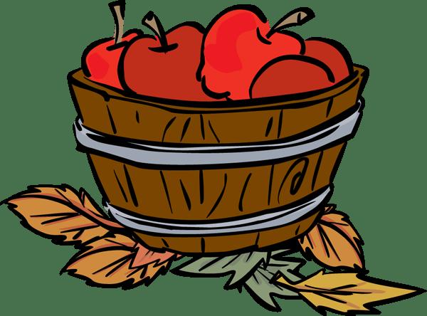 bushel of apples clipart