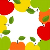 apple border clipart