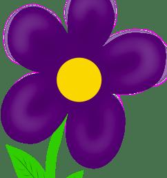 purple flower clipart [ 1225 x 1600 Pixel ]