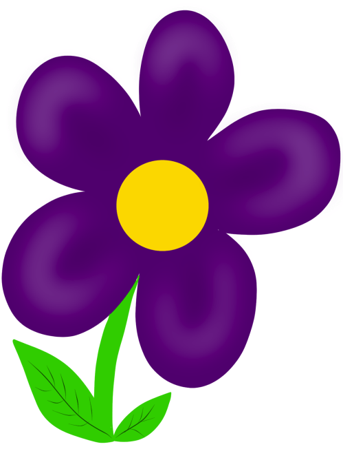 small resolution of purple flower clipart