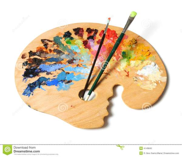 Art Paint Brush and Palette