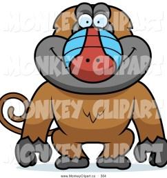baboon clipart clip art of a goofy baboon [ 1024 x 1044 Pixel ]