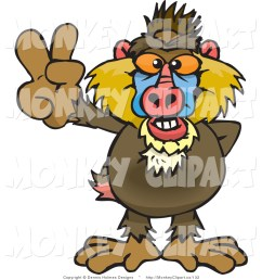 baboon clipart clip art of a peaceful baboon [ 1024 x 1044 Pixel ]