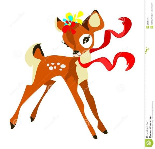Cute Baby Deer Clip Art