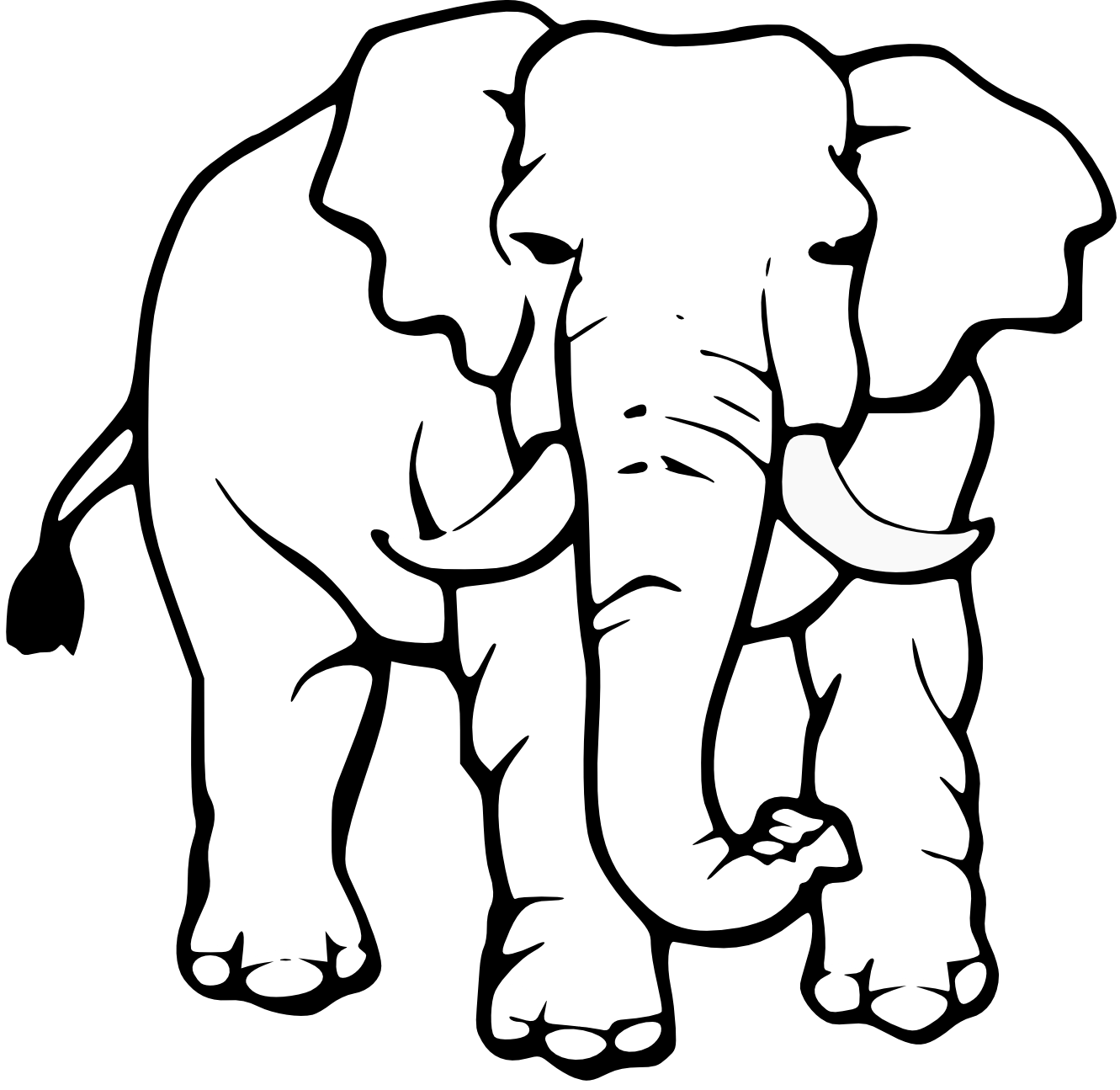 Baby Elephant Clipart Black And White Clipart Panda