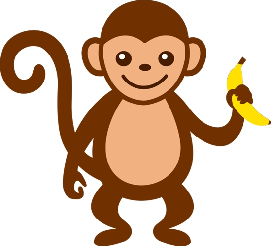baby monkey clip art clipart