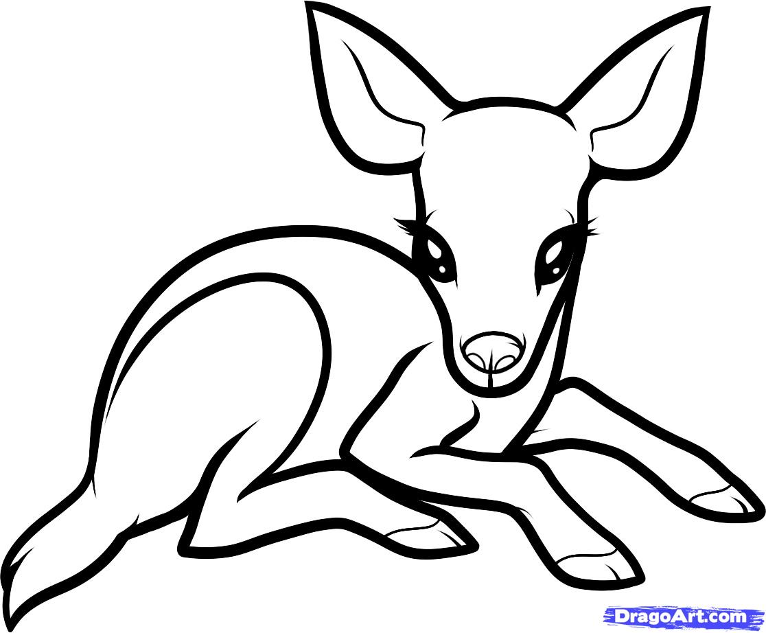 Simple Dear Coloring Pages