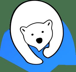 bear polar clipart baby winter clip panda vector