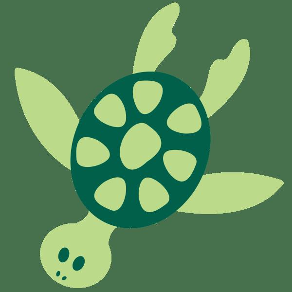 sea turtle silhouette clipart