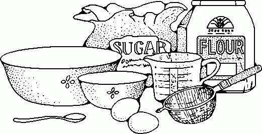 baking clip art black and white