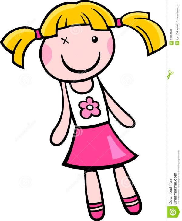 barbie doll clipart black and white
