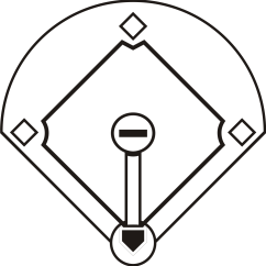 Softball Diamond Diagram 2000 Mazda 626 Belt Black And White Baseball Field Clipart Panda