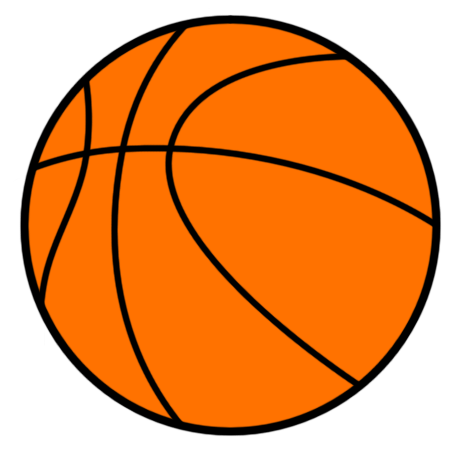 basketball ball clipart black