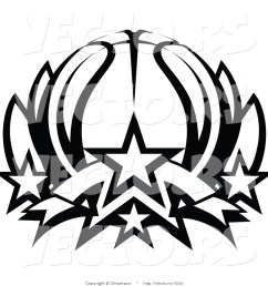 basketball clipart black and white [ 1024 x 1044 Pixel ]