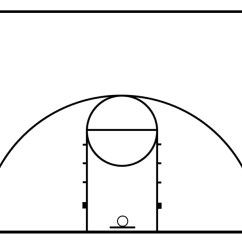 Youth Basketball Court Dimensions Diagram 2006 Dodge Ram Tipm Wiring Half Clipart | Panda - Free Images