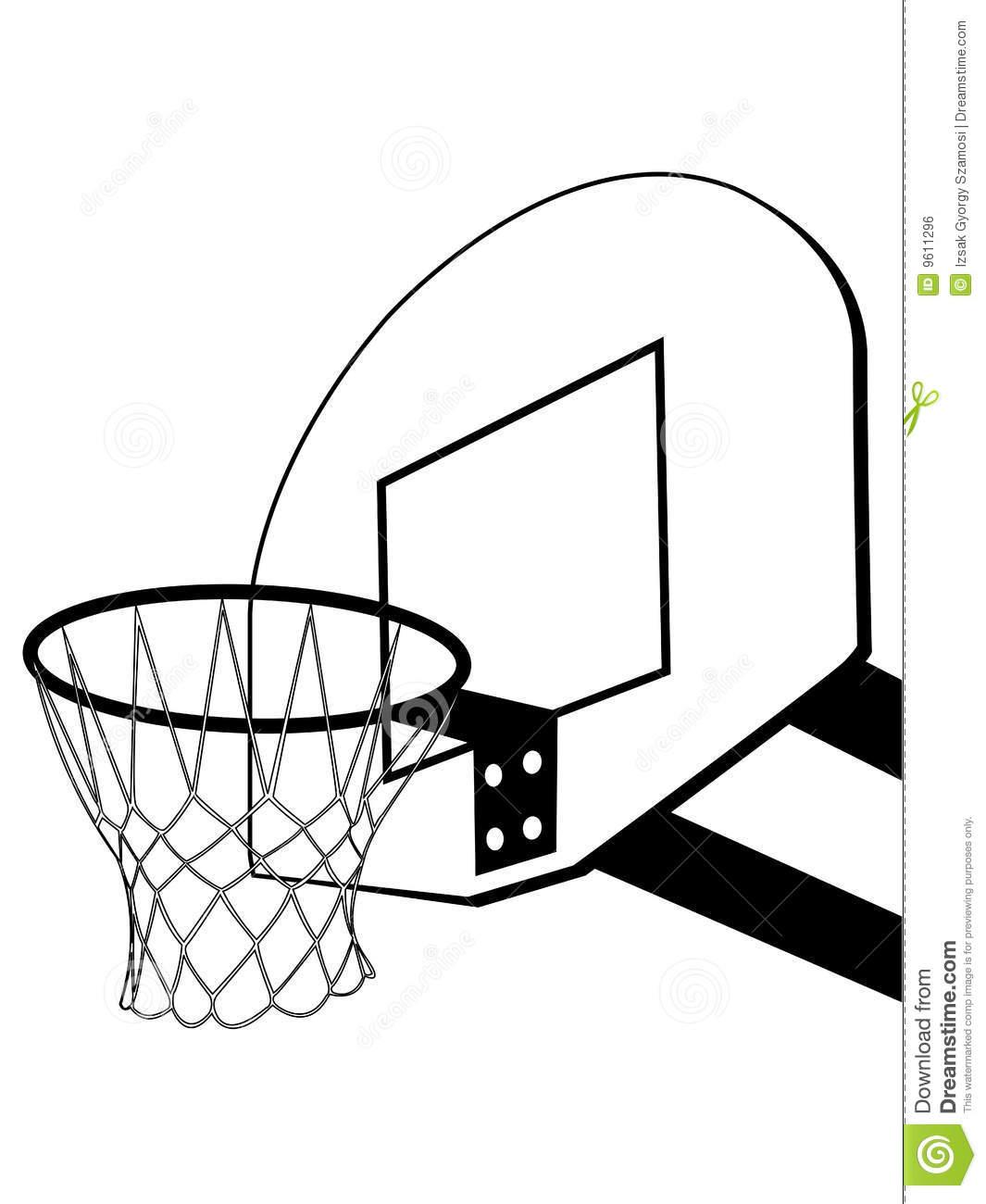 Basketball Hoop Backboard Clipart Clipart Panda
