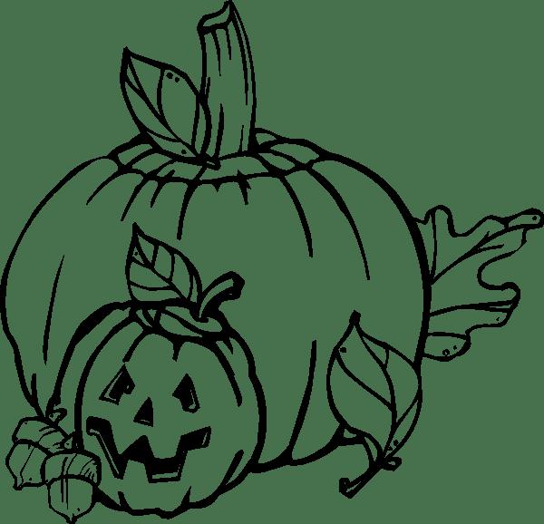 cute pumpkin clip art black