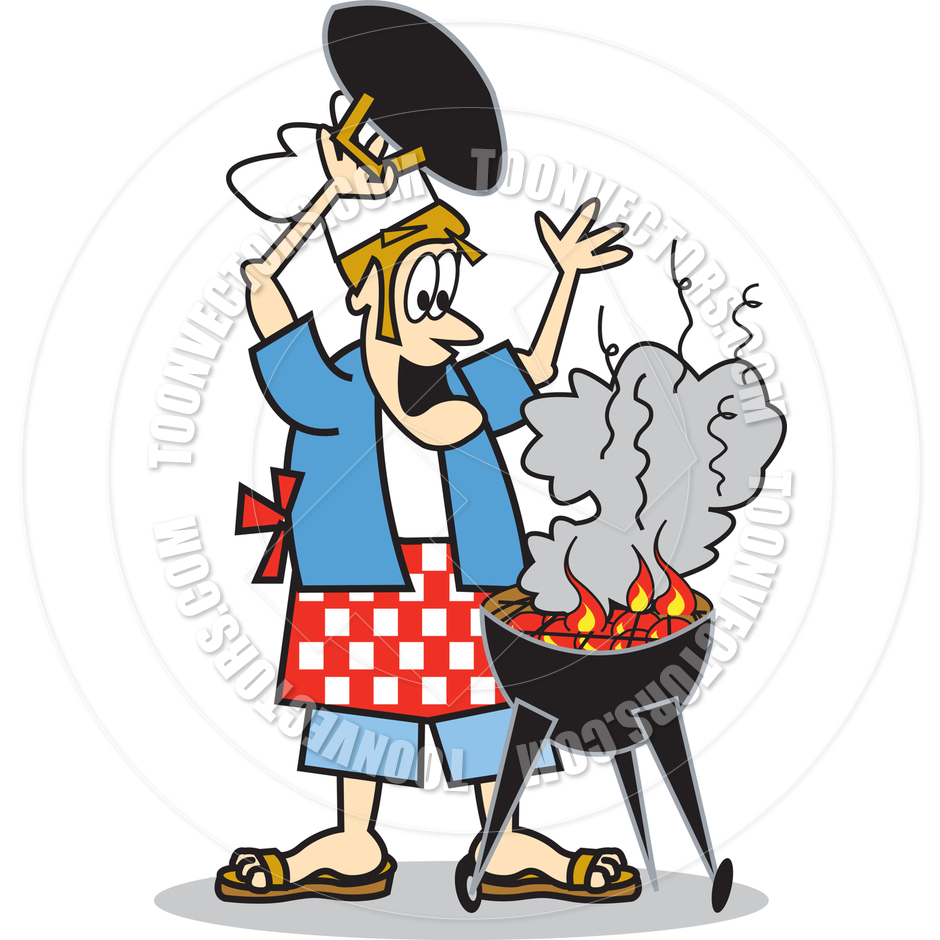 medium resolution of bbq grill with fire clipart