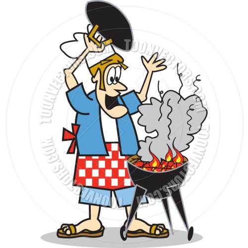 small resolution of bbq grill with fire clipart