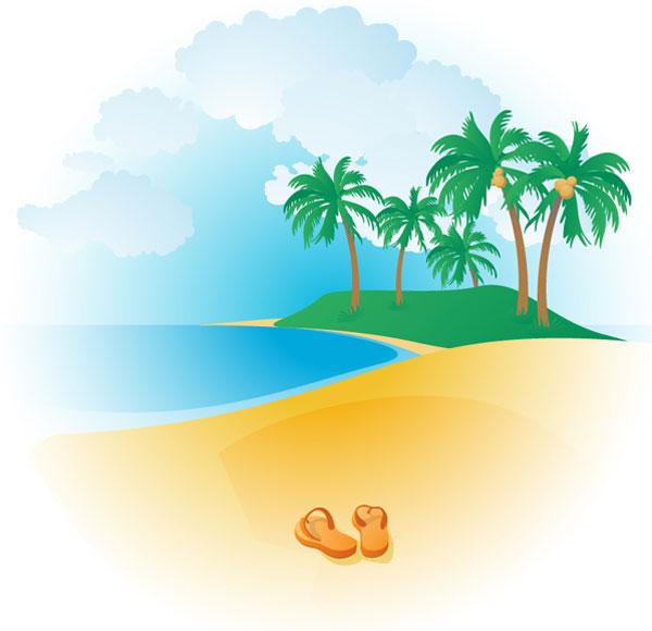 tropical beach clipart